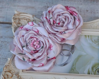 Light Pink Hair Accessory, Light Pink Hair Flower, Bridal Pink Fascinator, Bridal Flower Set, Flower Girl Flower Clip