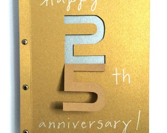 Happy 25th Anniversary Card