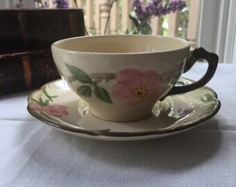Desert Rose Francisan USA Teacup and Saucer Set