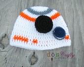 BB-8 Disney Star Wars Inspired Robot beanie crochet hat