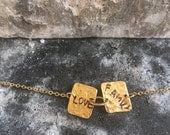 18k gold plated two plates chain bracelet