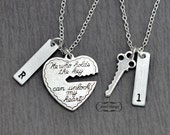 Valentines Day, key to my heart, COUPLE necklace, mr. mrs.,hand stamping jewelry, His and Hers, Girl friend, Boy friend, Husband and Wife