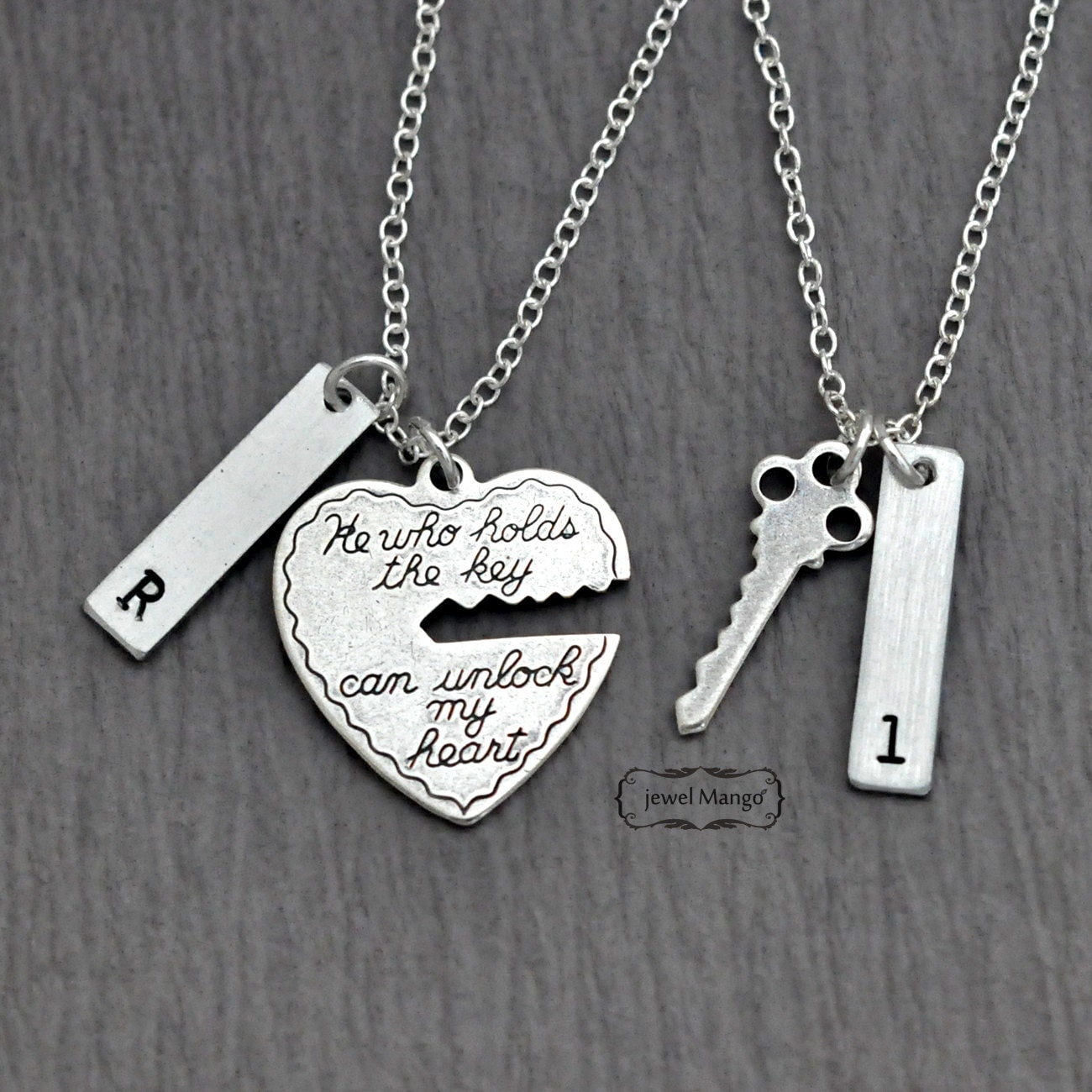 Valentines Day key to my heart COUPLE necklace mr.