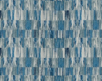 Navy Blue Plaid Wool Upholstery Fabric Modern By