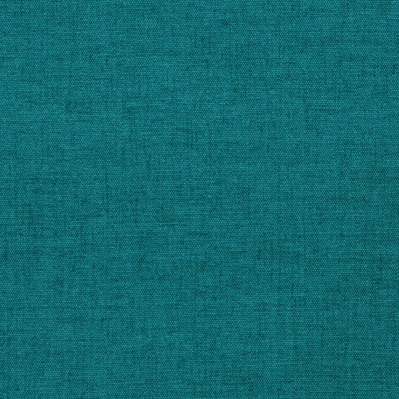 Teal Chenille Upholstery Fabric By The Yard Custom Solid