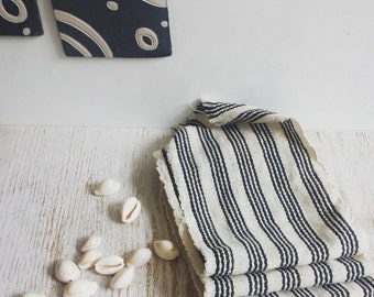 Single strip cloth from Western Ivory Black/Ivory stripes - 3 available