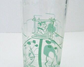 1960's Welch's Jelly Advertising Glass Flintstones Juice Glass