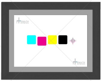 CMYK Square Target Abstract Photographic Print - Various Sizes - Gift Idea