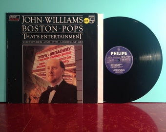 John Williams Boston Pops That's Entertainment Vinyl Record Album LP 1981 Annie Evita A Chorus Line Gigi OST Near Mint Condition Vintage