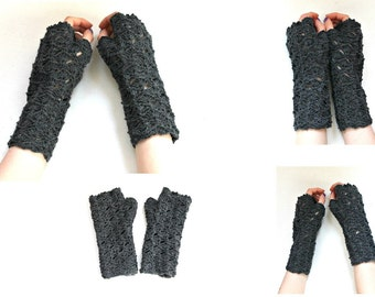 Handmade lace long mittens Fingerless gloves Arm Warmers Winter Wedding gloves Gift  Arm warmers Winter Womens gloves