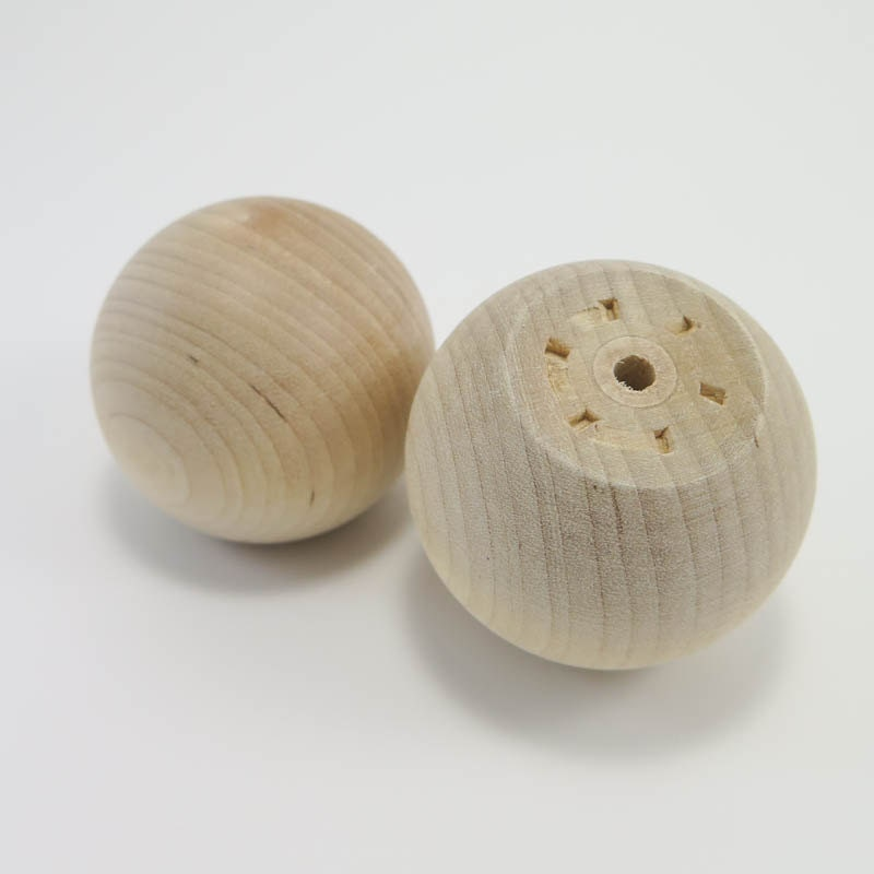 Wooden Knobs 2 Inch Wood Ball Knob Unfinished Wood Drawer