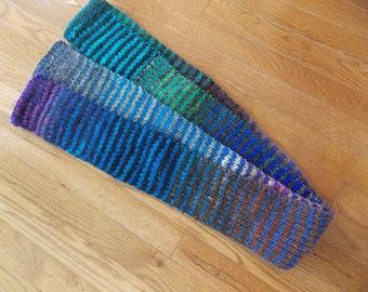 Road Trip Changing Stripes knit scarf - wool scarf - colorful scarf - Warm scarf - Changing Stripes - Unique (SC25)