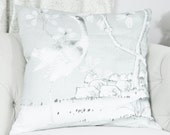 Reserved for Olivia Two Schumacher Chinois Gray Palais Pillow Covers- One scenic cover and one with out the bird