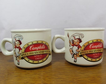 Vintage Pair  Campbell's Soup Mugs