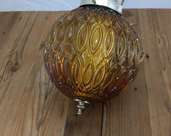 Vintage Amber Pendant light