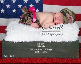 Army, Navy, Marine, Air Force, Coast Guard Ruffle Diaper Cover