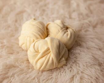 NEW Newborn Knit Wrap, Yellow Baby Wrap, Newborn Layering Fabric, Yellow Stretch Wrap, Striped Yellow Wrap, RTS