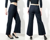 Vintage Kruunu Pukine Black Flared Pants
