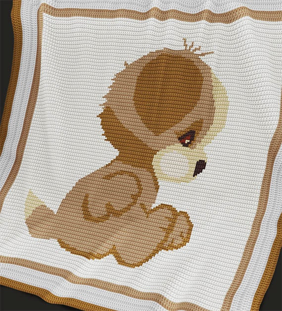 Crochet Pattern For Dog Blanket : CROCHET Pattern Baby Blanket Pattern Puppy Crochet Baby