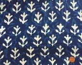 Gathered Lamp Shade - Indigo Blue Lampshade - Indian Block Print Lamp Shade - Ruched Lampshades - Bohemian Lamp Shade - Shirred Lampshades
