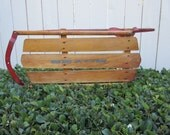 1950s 1960s Sears Roebuck Snow Sled, Vintage Wooden Child's Pull Sleigh, Vintage Sears Sled, Snow Sled, Vintage Snow Childs Sleigh
