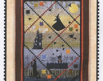 Pattern:  BAT WING SOUP by ThimbleCreek Quilts - Designed by Joe Wood - Halloween - Witch - Jack-o-Lantern - Cat - Bat - Ghosts
