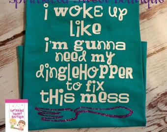 Little Mermaid Ariel Princess Quote Woke Up Dinglehopper To Fix This Mess Custom Women Men Kid Child Matching Family Vacation Trip Shirt