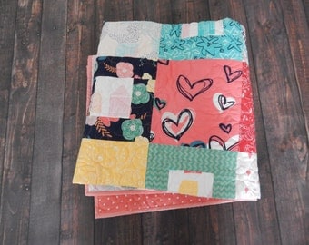 Happy Home Fabric Couch Quilt