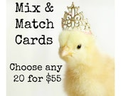 Mixed Chicks in Hats Greeting Card Set Chickens Hats Photo Note Cards (20) You Choose!
