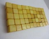 1930s Bakelite Dice Blanks Cream Corn Butterscotch