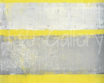 Subjected, 2016 - Original Acrylic Artwork Modern Contemporary Abstract Painting Wall Decor Free Shipping Grey Yellow White 11x14 Paper