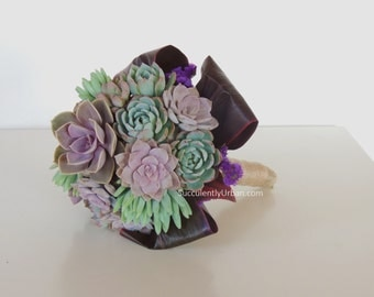 Wedding bouquet, Succulent bridal bouquet _ Caya