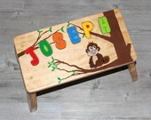 Personalized Puzzle Piece Wooden Stool