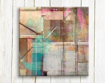 Square abstract art on canvas - Contemporary Art print on canvas - bedroom decor - wedding gift