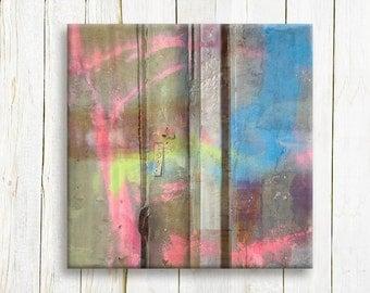 Mixed Media contemporary art print on canvas - Home decor - Wedding gift idea