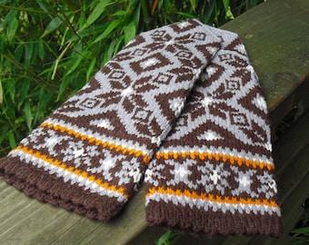 Hand Knit Norwegian Wool Mittens