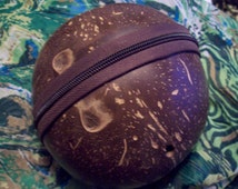 Handmade Pouch Made from a Gourd or Coconut Shell