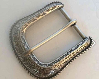 Vintage Silver Rodeo Buckle Cowboy Cowgirl Hipster Century Canada
