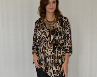 SALE Butterfly Tunic in Leopard