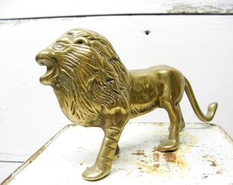 Brass Lion Africa Patina Safari Theme