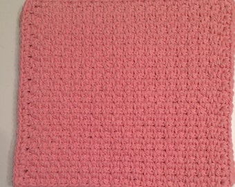 Buy 3 get 1 free. Pink Dish cloth/Wash cloth- Clearance priced