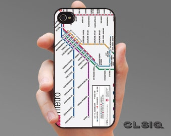 San Francisco Metro Map Case for iPhone 6/6S, 6+/6S+, 5/5S, 5C, 4/4S, iPod Gen 5, Samsung Galaxy S6, Galaxy S5, Galaxy S4, Galaxy S3