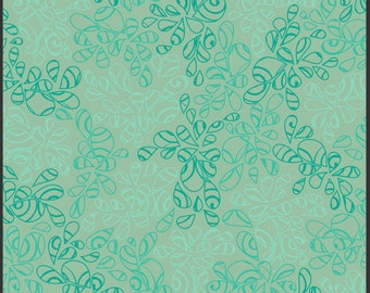 Nature Elements by Art Gallery Fabrics, Blue Green, NE113