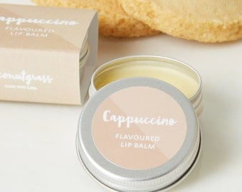 CAPPUCCINO Lip Balm - Lip Balm - Coffee Lip Balm - Coffee gift - Coffee Flavoured Lip Balm - Wedding favour - Hen party gift - lip gloss
