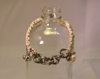 woven and chain bracelet