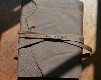 Leather Bound Art Journal Handmade Travel Sketchbook Diary Custom Order (549B)