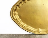 Vintage Brass Tray - Boho Chic - Modern Vintage Indian Decor - Brass Accent