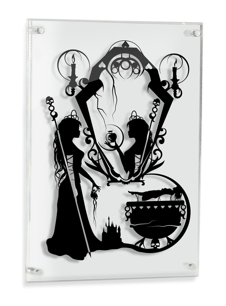 snow white evil queen silhouette hand cut paper craft fairy. Black Bedroom Furniture Sets. Home Design Ideas