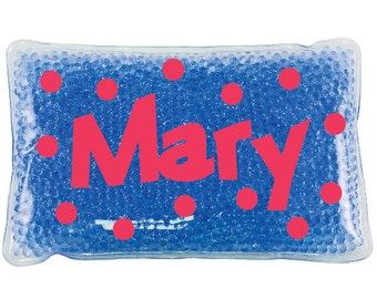 Personalized Ice pack with dots or no dots.