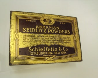 Beekman Seidlitz Powder Tin, c. 1930's